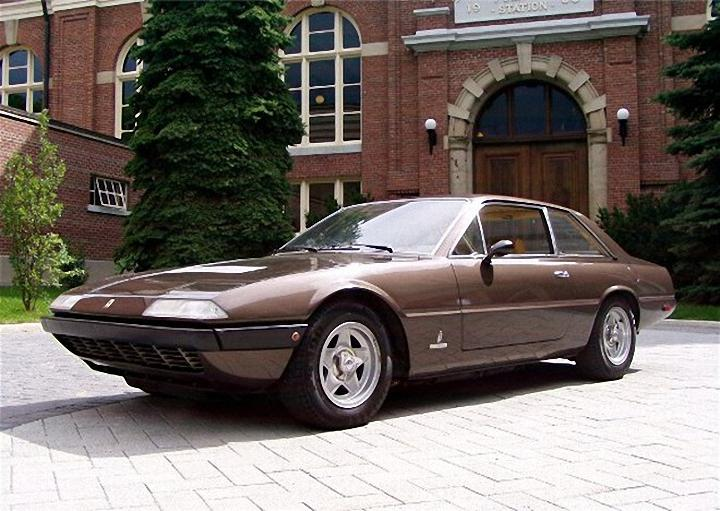 Front Left Brown 1973 Ferrari 365 GT4 Car Picture